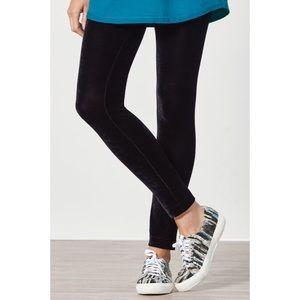 •Soft Surroundings• Black Velvet Knit Leggings